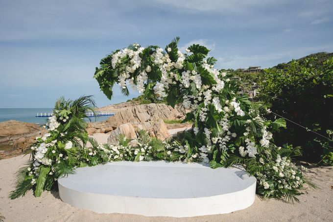 Wedding at The Ritz Carlton Koh Samui Thailand by IAMFLOWER - 005