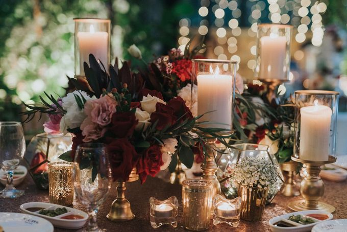 Ivan & Kelly - Fairylight & Rustic Burgundy Wedding by Nic Chung Photography - 001