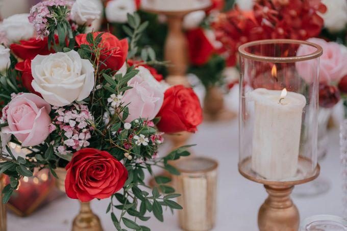 Jacky & Jayslyn - Glamorous red & pink canopy wedding by Blissmoment - 002