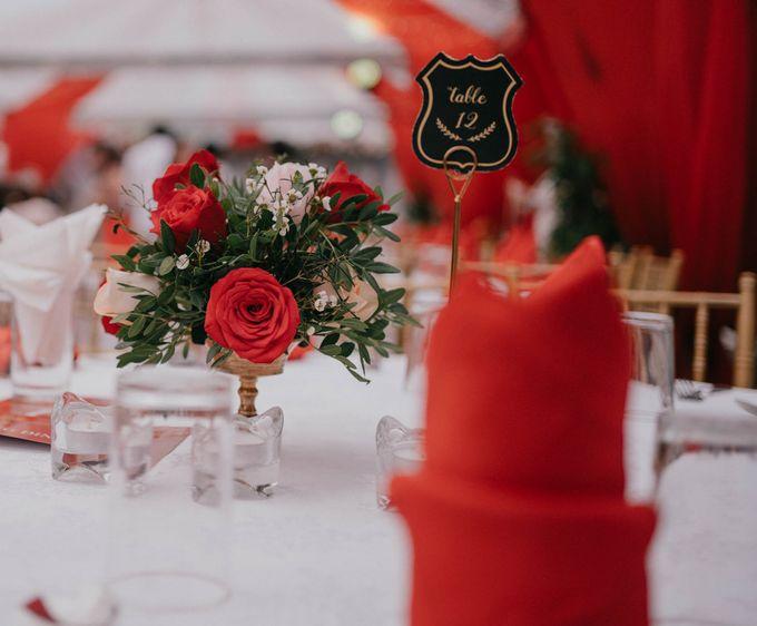 Jacky & Jayslyn - Glamorous red & pink canopy wedding by Blissmoment - 005