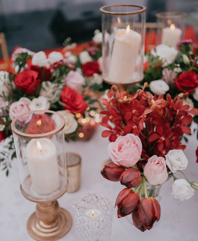Jacky & Jayslyn - Glamorous red & pink canopy wedding by Blissmoment - 006
