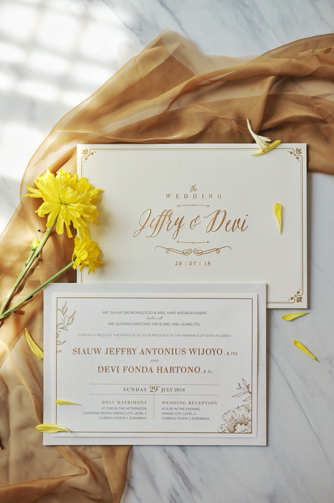 Jeffry & Devi wedding invitation by Bluebelle Invitations - 001