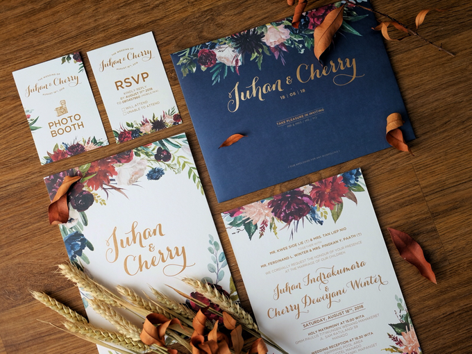 Juhan & Cherry Wedding Invitation by Bluebelle Invitations - 001