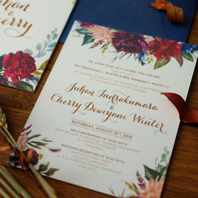 Juhan & Cherry Wedding Invitation by Bluebelle Invitations - 004