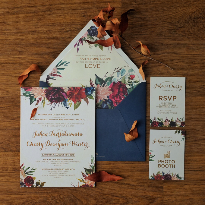Juhan & Cherry Wedding Invitation by Bluebelle Invitations - 005