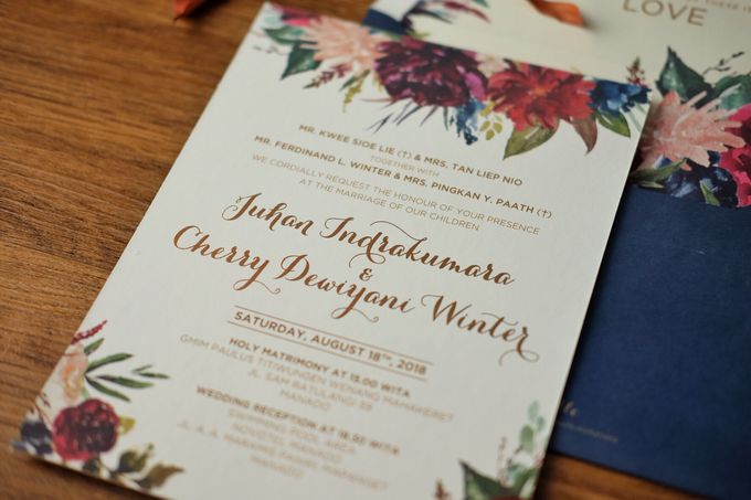 Juhan & Cherry Wedding Invitation by Bluebelle Invitations - 008