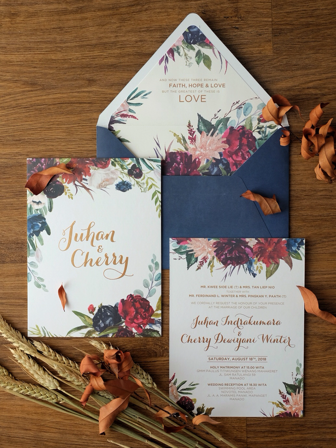 Juhan & Cherry Wedding Invitation by Bluebelle Invitations - 010