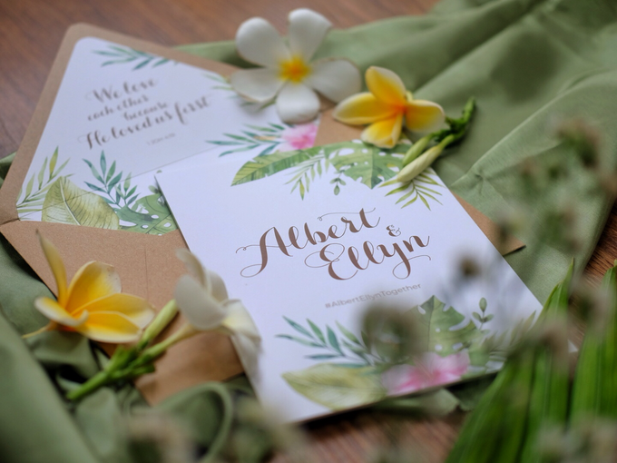 Albert & Ellyn Tropical Wedding Invitation by Bluebelle Invitations - 003