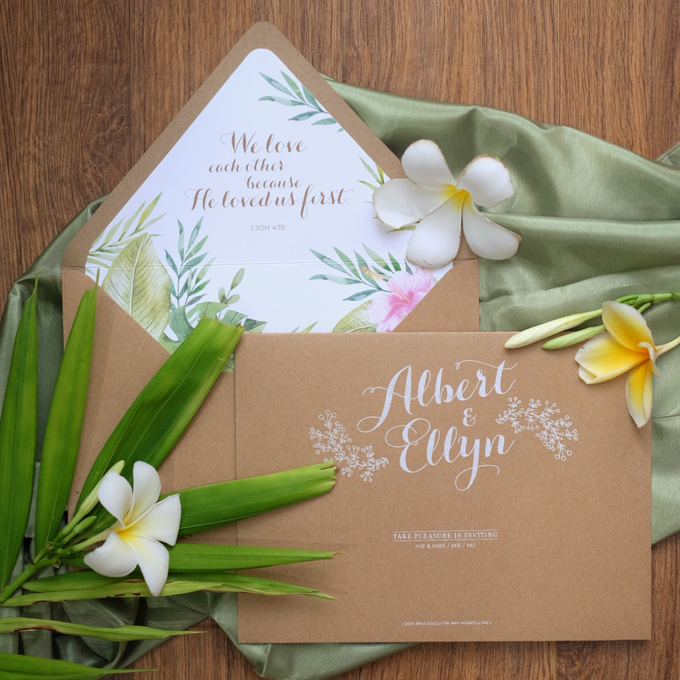 Albert & Ellyn Tropical Wedding Invitation by Bluebelle Invitations - 005