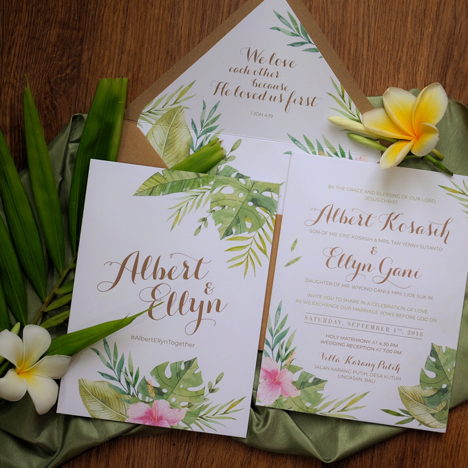 Albert & Ellyn Tropical Wedding Invitation by Bluebelle Invitations - 006