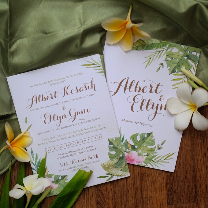 Albert & Ellyn Tropical Wedding Invitation by Bluebelle Invitations - 007