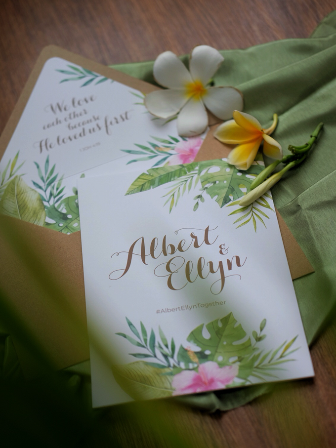 Albert & Ellyn Tropical Wedding Invitation by Bluebelle Invitations - 008