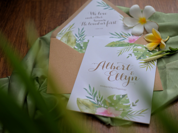 Albert & Ellyn Tropical Wedding Invitation by Bluebelle Invitations - 009