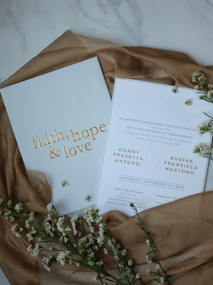 Donny & Audina Grey and Gold wedding invitation by Bluebelle Invitations - 006