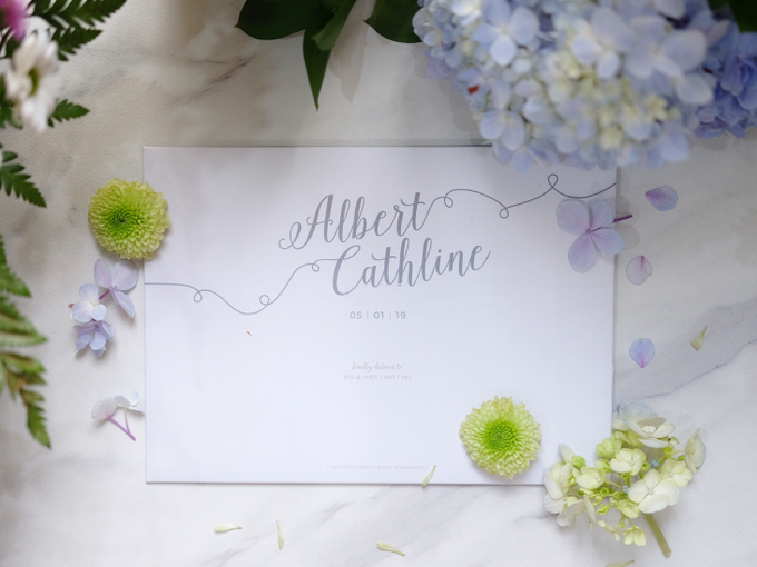 Albert & Cathline wedding invitation by Bluebelle Invitations - 001