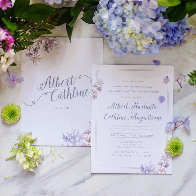 Albert & Cathline wedding invitation by Bluebelle Invitations - 002