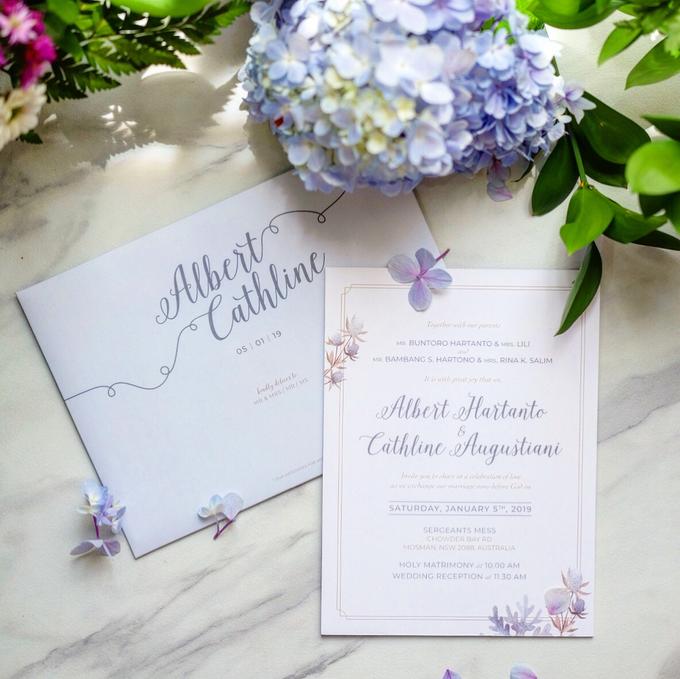 Albert & Cathline wedding invitation by Bluebelle Invitations - 004