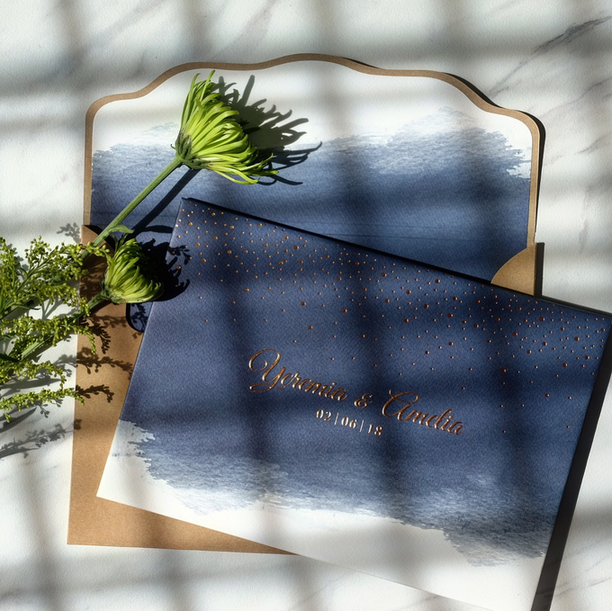 Yeremia & Amelia Rustic Stardust Invitation by Bluebelle Invitations - 003