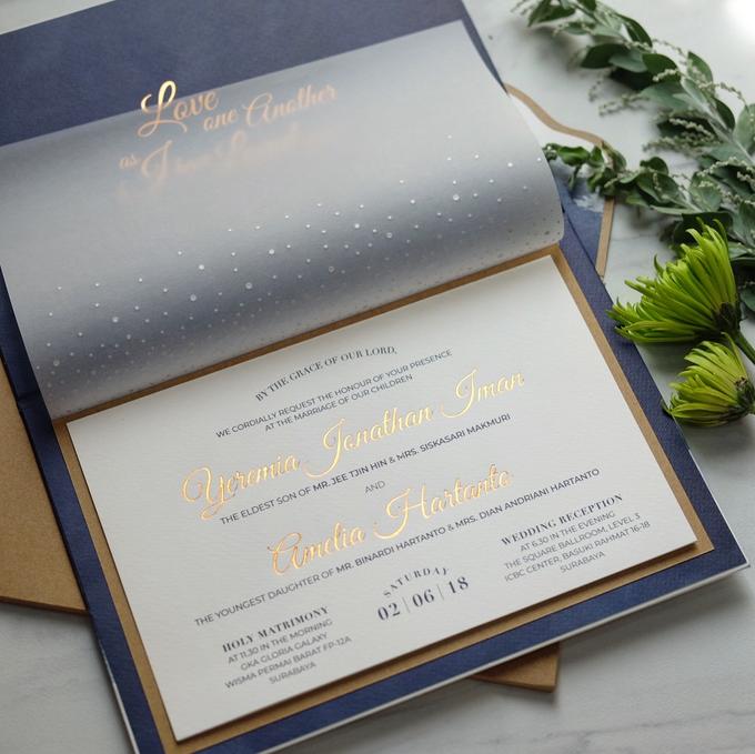 Yeremia & Amelia Rustic Stardust Invitation by Bluebelle Invitations - 008