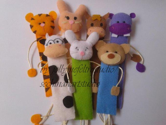 Cutie Bookmarks by JollyMe Felt Studio - 001