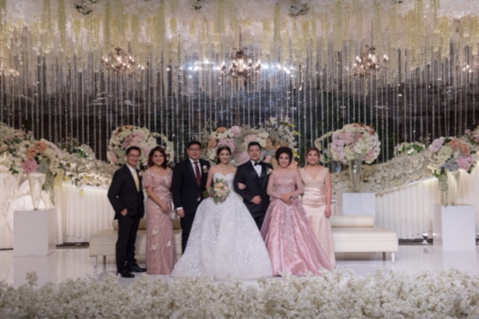 Groom and bride family-pastel colors gowns by Boenga Bridal Couture - 004