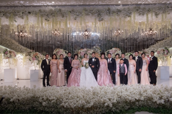 Groom and bride family-pastel colors gowns by Boenga Bridal Couture - 003