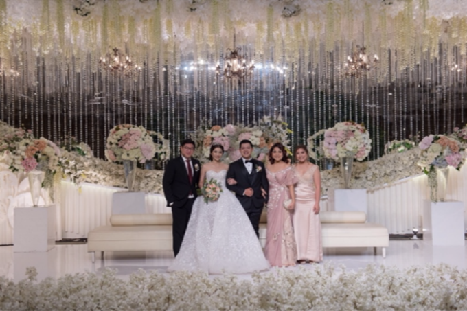 Groom and bride family-pastel colors gowns by Boenga Bridal Couture - 002