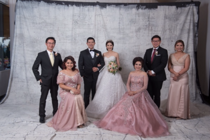 Groom and bride family-pastel colors gowns by Boenga Bridal Couture - 008