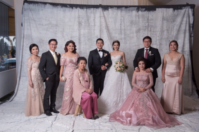 Groom and bride family-pastel colors gowns by Boenga Bridal Couture - 009