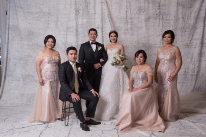 Groom and bride family-pastel colors gowns by Boenga Bridal Couture - 011