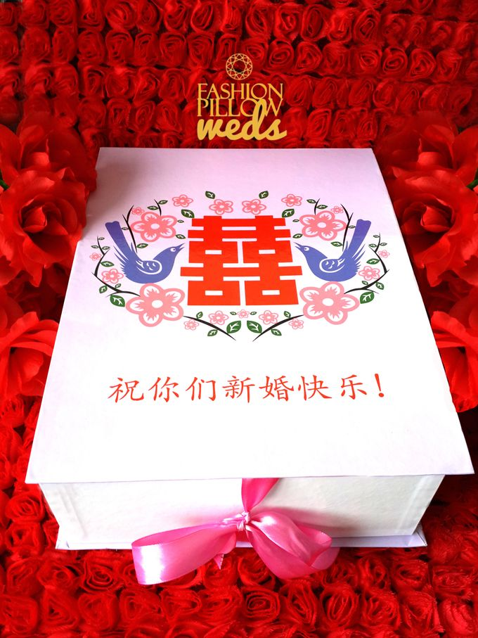 Cheongsam Wedding Pillow for Sangjit by Fashion Pillow Weds - 002