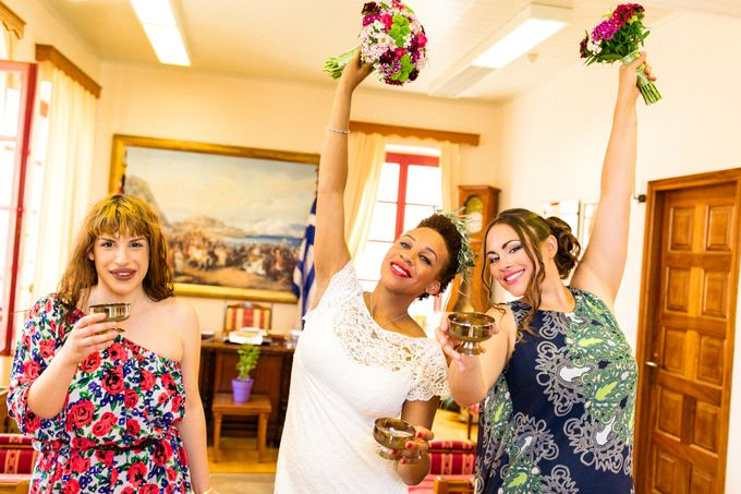 Civil Afro American wedding in Nafplio by MarrymeinGreece - 023