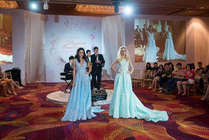 Bridal Gown Fashion Show At Mandarin Orchard Singapore by La Belle Couture Weddings Pte Ltd - 008