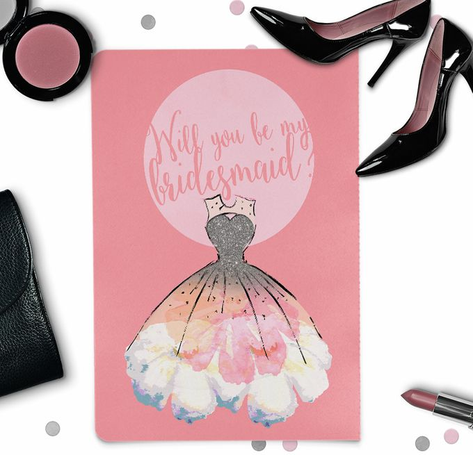 Will you be my bridesmaid invitation by She.Fox Invitations - 002