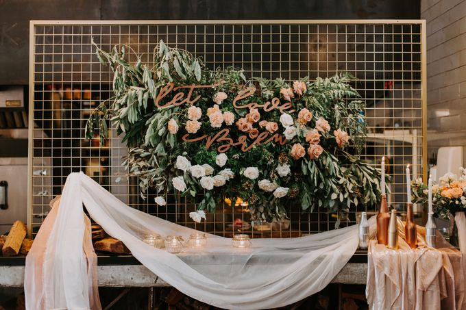 A Romantic Industrial Wedding by The Cat Carousel - 005
