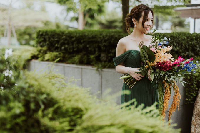 Tropical Wedding Inspirations by Le Meridien Singapore, Sentosa - 046