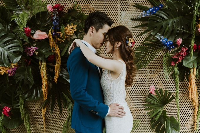 Tropical Wedding Inspirations by Le Meridien Singapore, Sentosa - 017