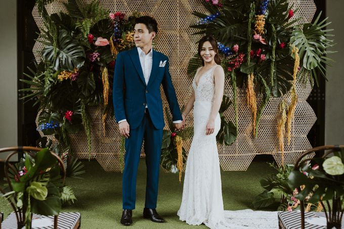 Tropical Wedding Inspiration by Le Meridien Singapore, Sentosa - 003