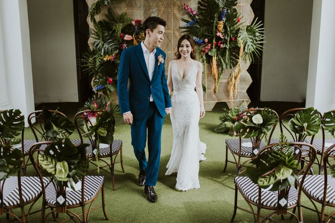 Tropical Wedding Inspiration by Le Meridien Singapore, Sentosa - 007