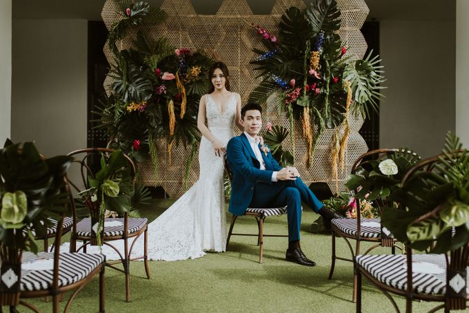 Tropical Wedding Inspiration by Le Meridien Singapore, Sentosa - 008
