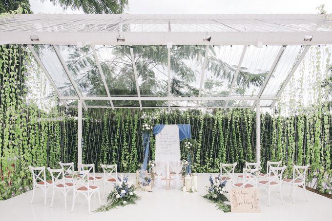 Dusty Blue Winter Theme Wedding by Le Conte Decor - 037