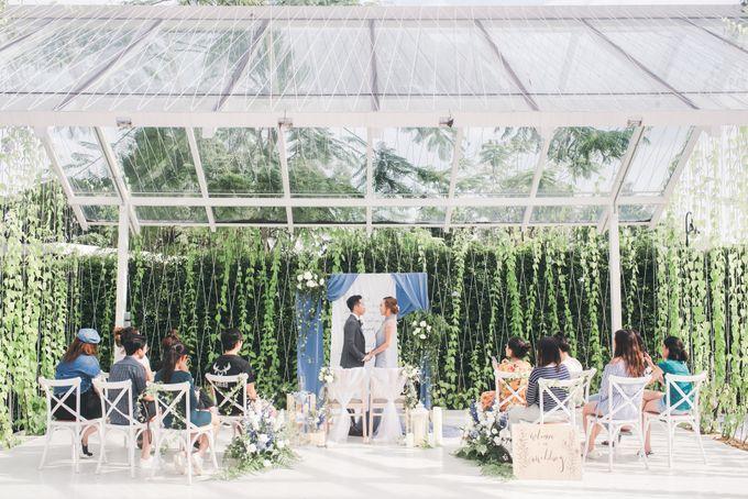 Dusty Blue Winter Theme Wedding by Le Conte Decor - 039