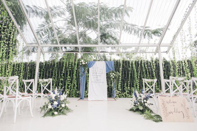 Dusty Blue Winter Theme Wedding by Le Conte Decor - 041