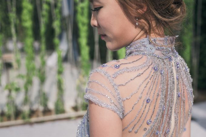 A Dusty Blue Greenhouse Wedding Inspiration by Lovemark Diamond - 007