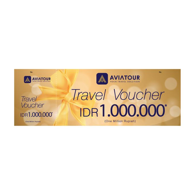 VOUCHER TRAVEL AVIA TOUR - BRIDE STORY IDR 1,000,000,00 by Aviatour - 004