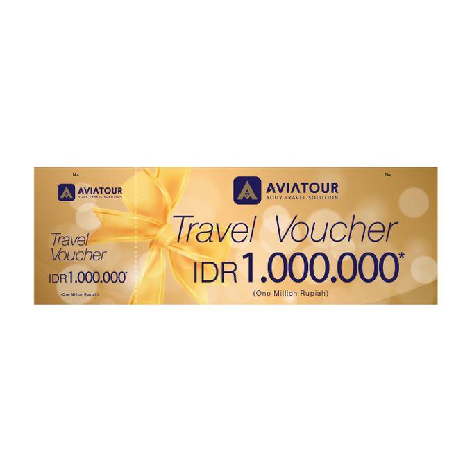 VOUCHER TRAVEL AVIA TOUR - BRIDE STORY IDR 1,000,000,00 by Aviatour - 005