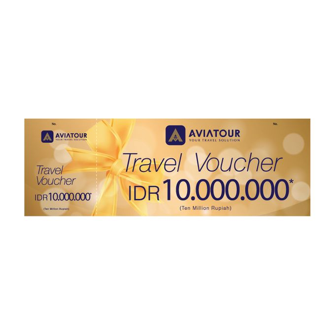 VOUCHER TRAVEL AVIA TOUR - BRIDESTORY IDR 10000000 by Aviatour - 002