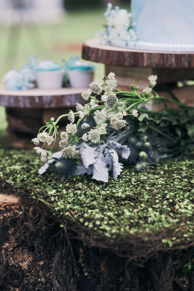 Dusty Blue Wintry Theme Styled Shoot with Bridestory by Ever & Blue Floral Design - 003