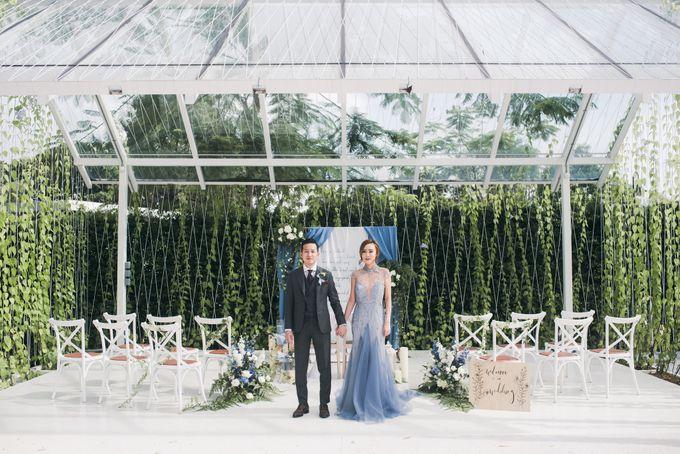 Dusty Blue Winter Theme Wedding by Le Conte Decor - 001