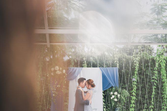 Dusty Blue Winter Theme Wedding by Le Conte Decor - 003